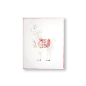 Lucky Llama Printed Canvas Wall Art, , large