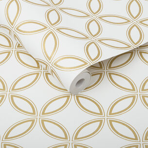 Eternity White & Gold Behang, , large