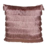 Gatsby Pink Fringed Cushion, , large