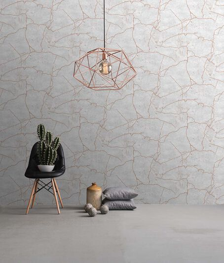 Kintsugi Rose Gold Wallpaper, , large