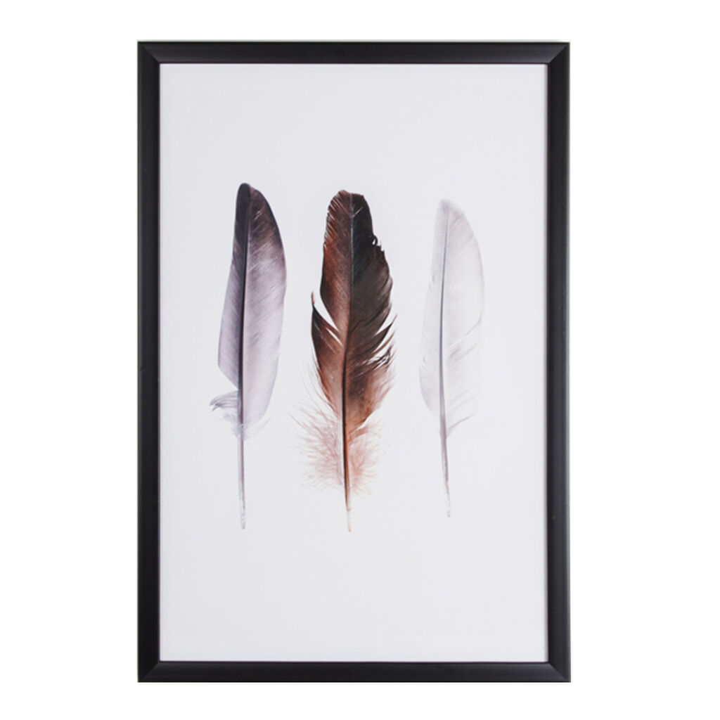 Feather Trio Framed Wall Art Print, , large