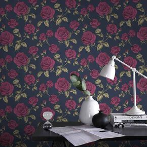 Countess Navy Wallpaper, , large