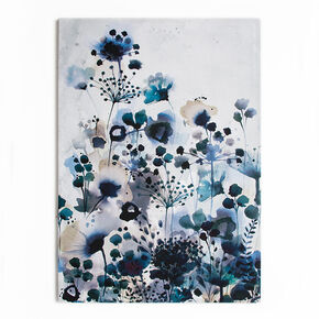 Moody Blue Watercolour Printed Canvas Wall Art , , large