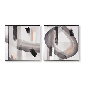 Monochrome Radiance Framed Canvas Wall Art, , large