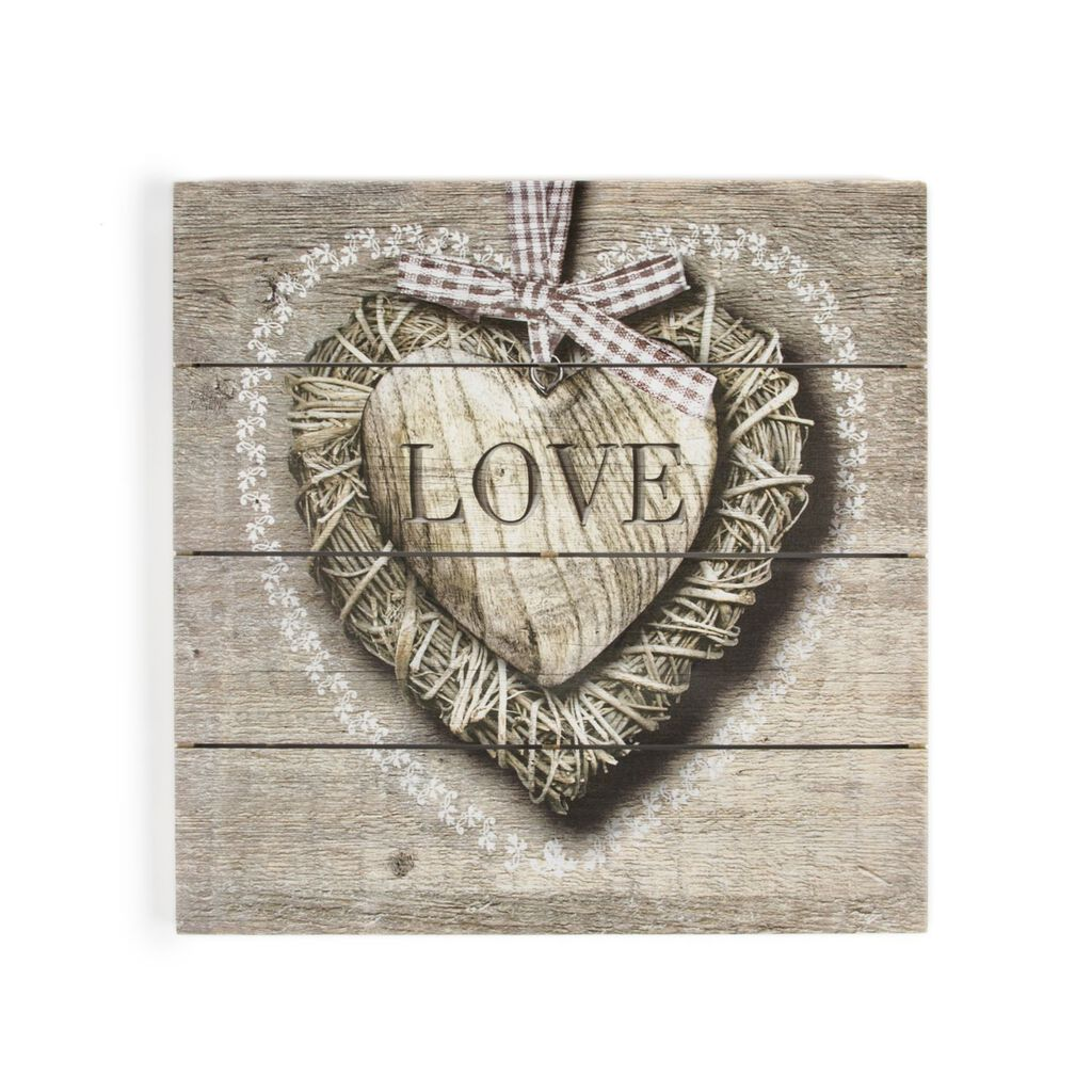 Love Print On Wood Wall Art, , large
