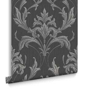 Oxford Black and Grey Wallpaper, , large