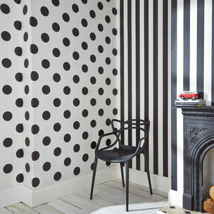 Monochrome Stripe Wallpaper, , large