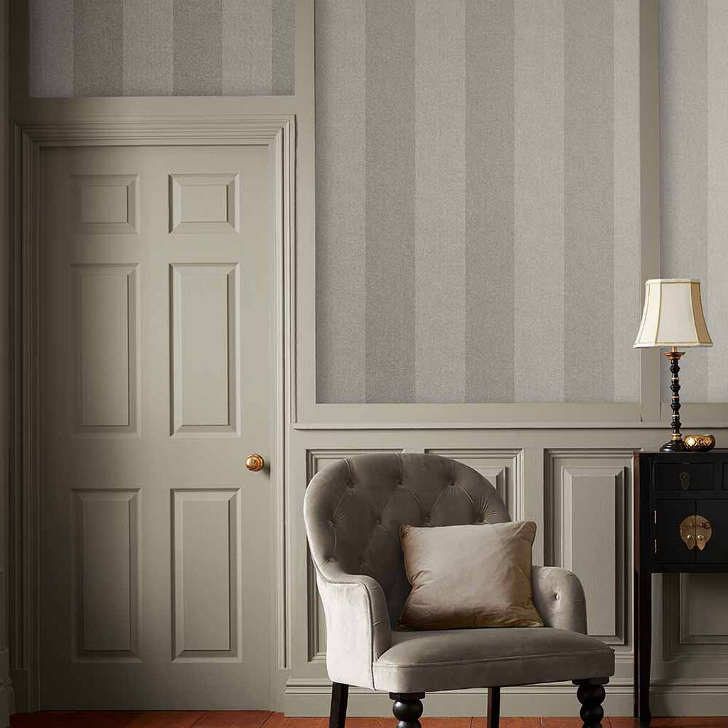 Heritage Stripe Taupe Behang, , large
