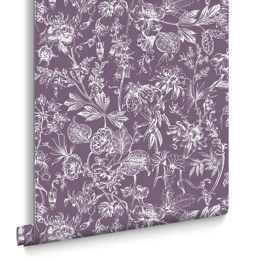 Stroma Mulberry Wallpaper, , large