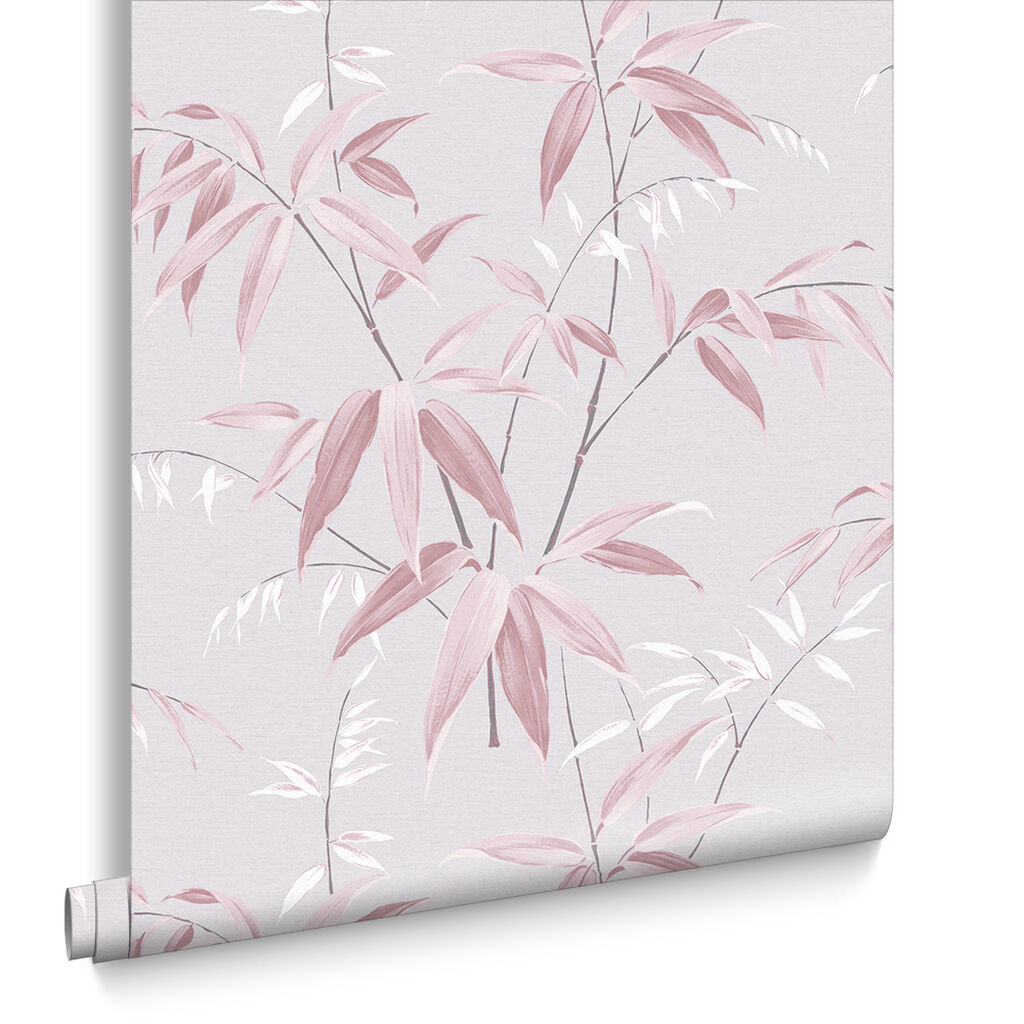 Oriental Bamboo Blossom Wallpaper, , large