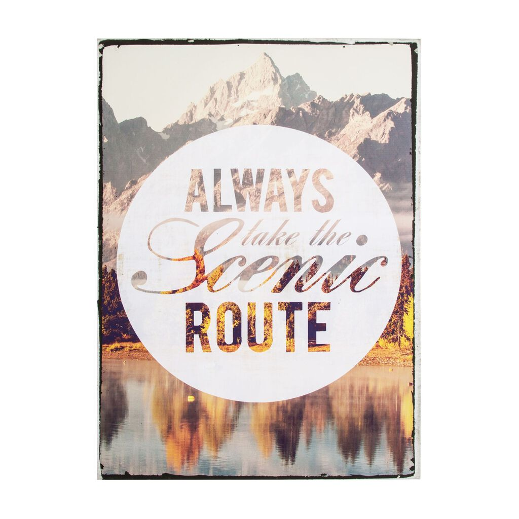 Scenic Route Printed Canvas Wall Art, , large