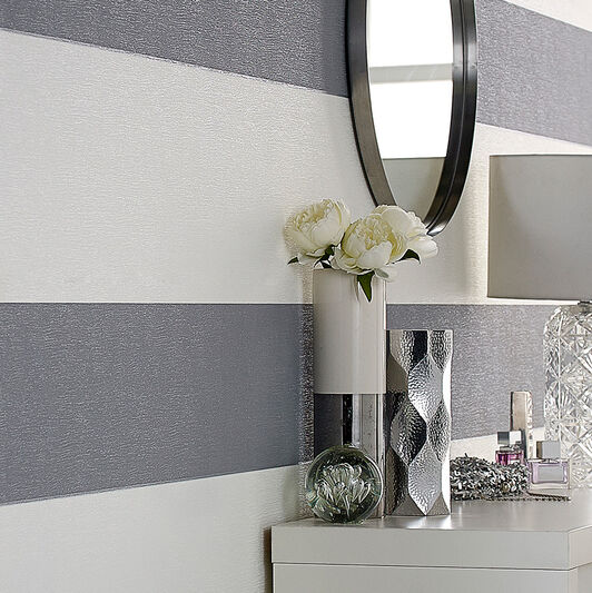 Glitz Soft Grey and Pearl Wallpaper, , large