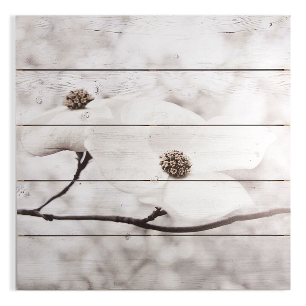 Serenity Blossoms Print On Wood Wall Art, , large