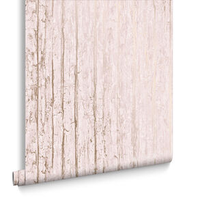 Grain Texture Cherry & Rose Gold Wallpaper, , large