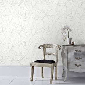 Innocence White Mica Wallpaper, , large