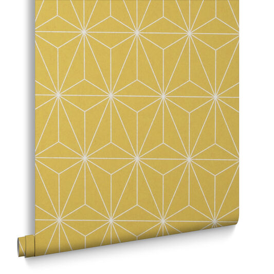 Prism Yellow Behang, , large