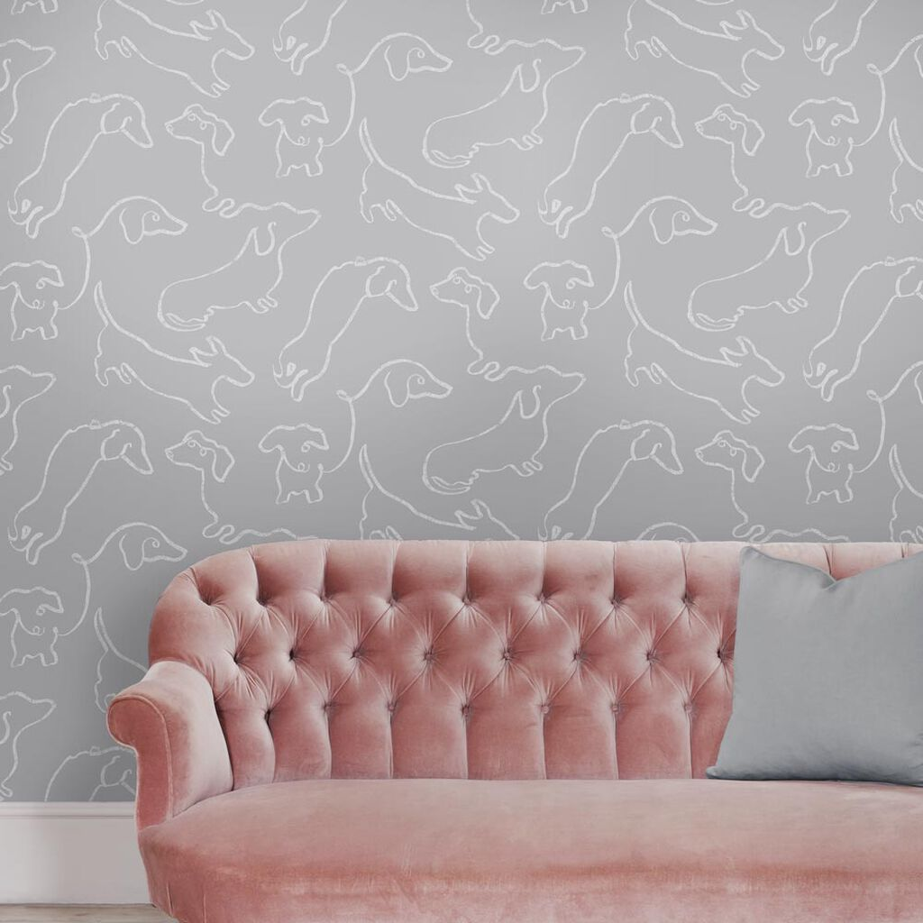 Buckley Grey Wallpaper, , large