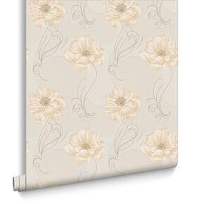 Sofia Gold and Natural Wallpaper, , large