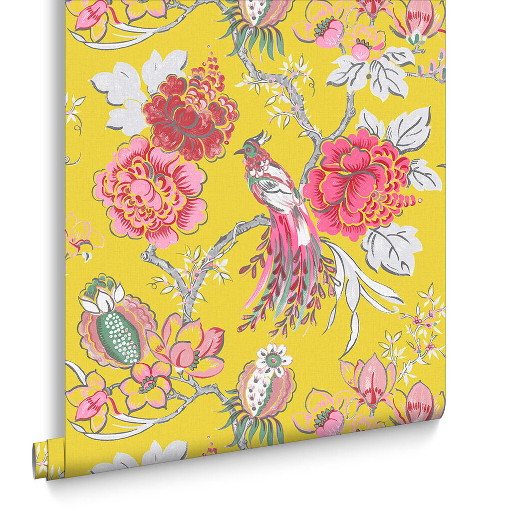 Chinoiserie Canary Behang, , large