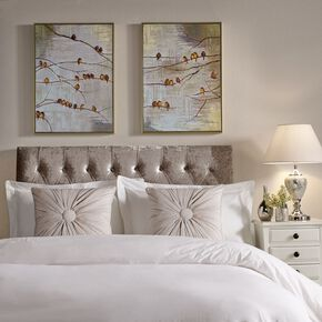 Flock Of Birds Handpainted Framed Canvas Wall Art , , large