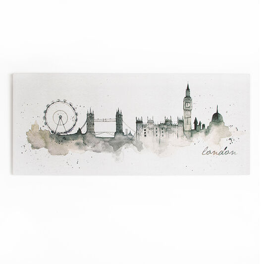 London Watercolour Printed Canvas, , large