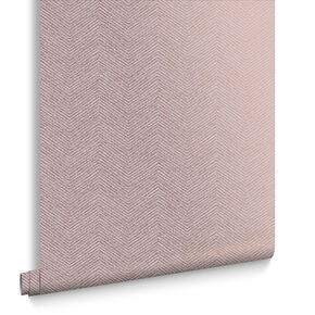 Chevron Texture Pink & Bronze Wallpaper, , large