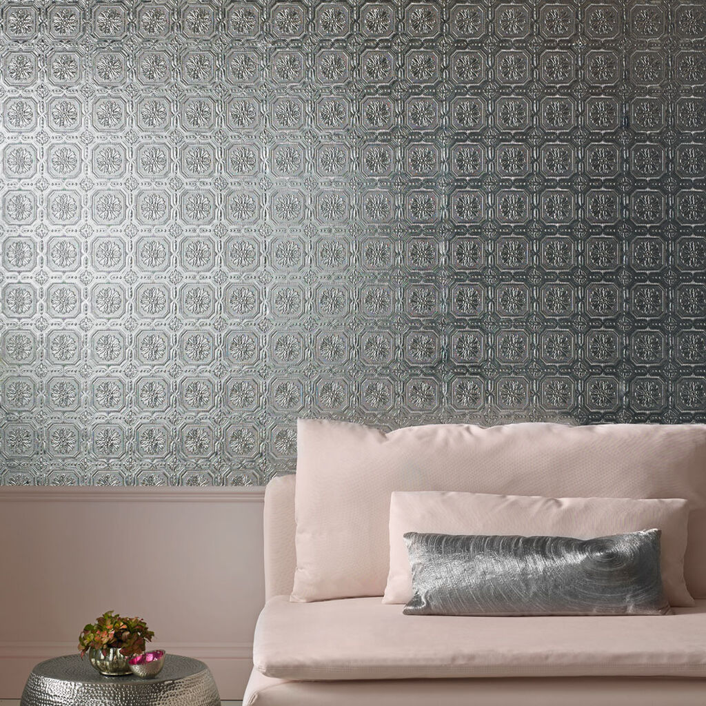 Metallic Tile Wallpaper, , large