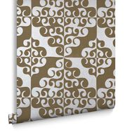 Taupe Twist Behang, , large