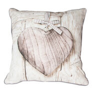 Wooden Hearts Cushion, , large