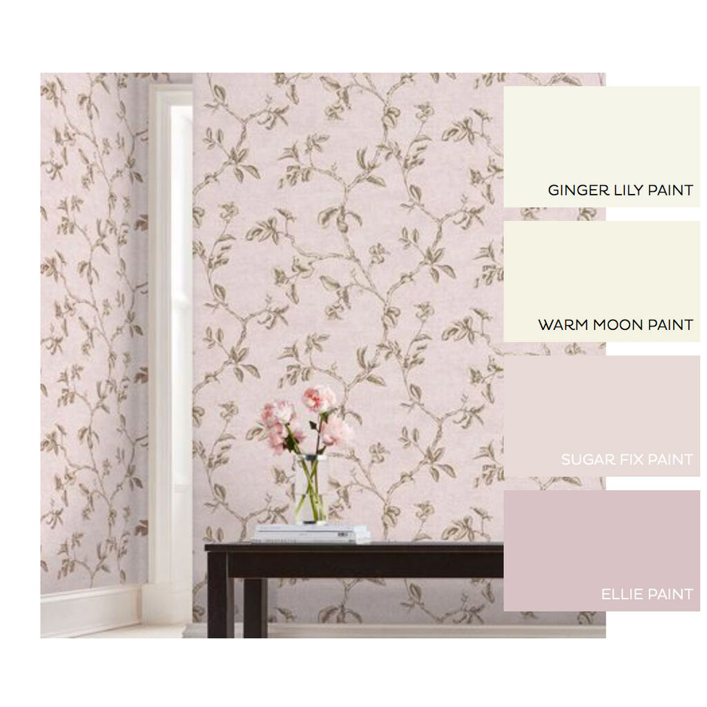 Twining Blush Wallpaper, , large