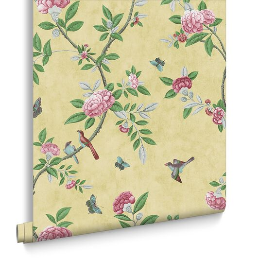 Chinoiserie Imperial Yellow Wallpaper Large