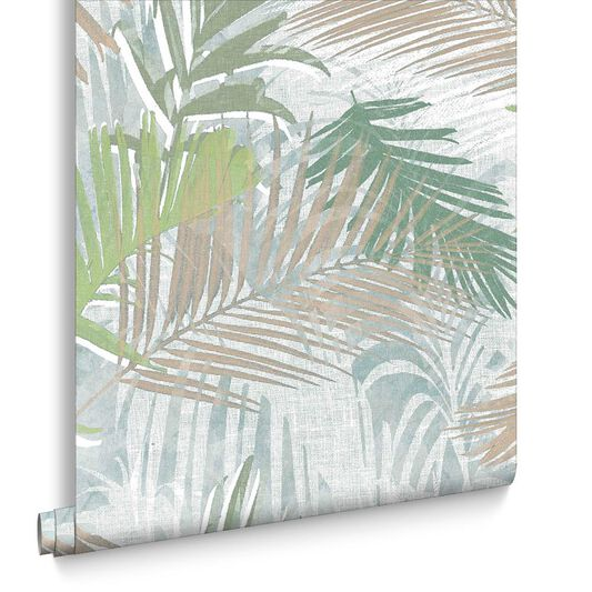 Jungle Glam Gold & Green Wallpaper, , large