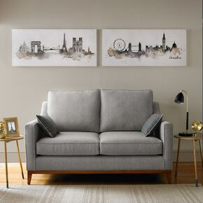 London Watercolour Printed Canvas Wall Art, , large