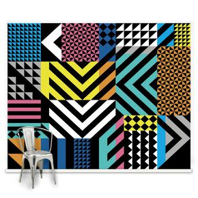Couture Geoclash Brights Ready Made Mural, , large