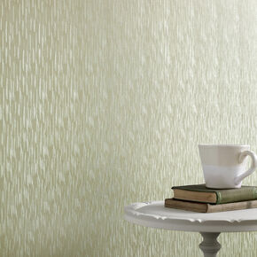 Silken Stria Green Shimmer Wallpaper, , large