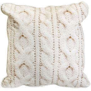 Cable Knit Cushion, , large