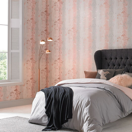 Wild Flower Blush Wallpaper, , large