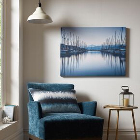 Harbour Reflections Printed Canvas Wall Art , , large