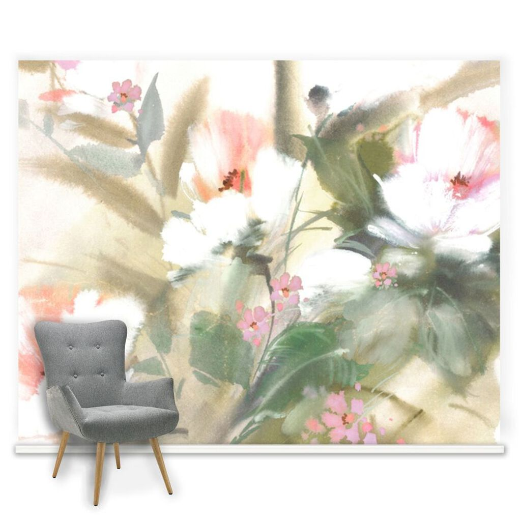 Couture Expressive Floral Ready Made Mural, , large