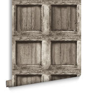 Heavy Wood Panel Wallpaper, , large