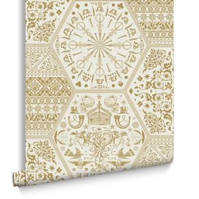 World Heritage Gold Behang, , large