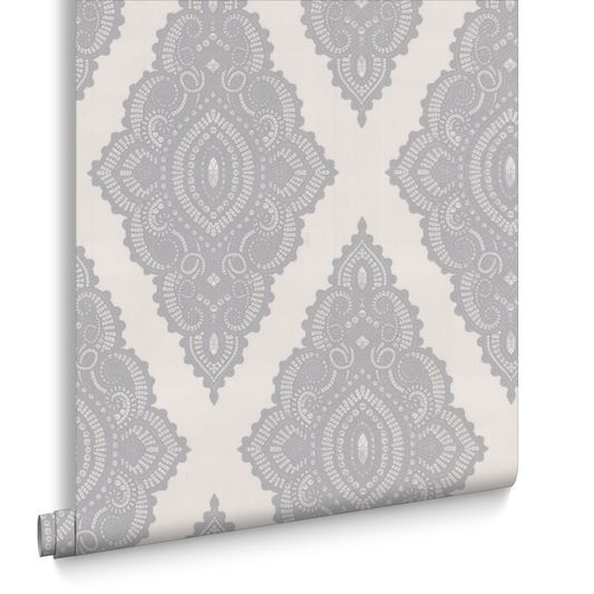 Jewel Pearl and Silver Wallpaper, , large