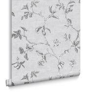 Twining Silver Wallpaper, , large