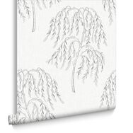 Willow Tree Silver Wallpaper, , large