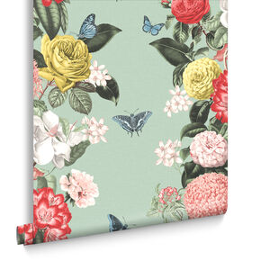 Bloomsbury Neo Mint Wallpaper, , large