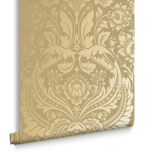 Desire Gold And Mustard Wallpaper Large