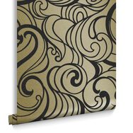 Papier Peint Hula Swirl Guilded, , large