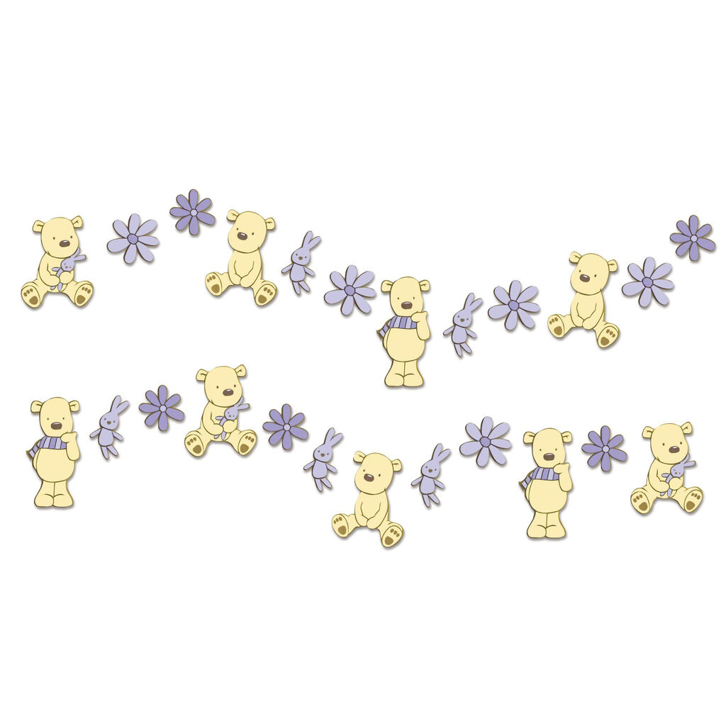 Bears Mini Foam Wall Elements 24pcs, , large