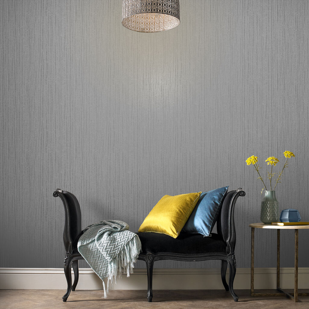 Bamboo Texture Silver Wallpaper, , large