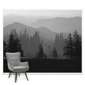 Fotobehang Misty Mountains, , large